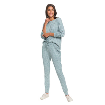 Roxy Just Yesterday Super Soft Joggers - Everglade Heather