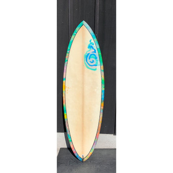 "Used Tie Dye 5'8"" Quad Surfboard"