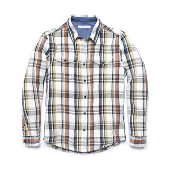 Outerknown Blanket Shirt - Birch Coco Plaid