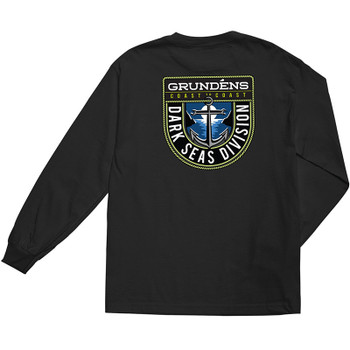 Dark Seas X Grundéns Long Haul L/S Wicking Tee - Black - Back