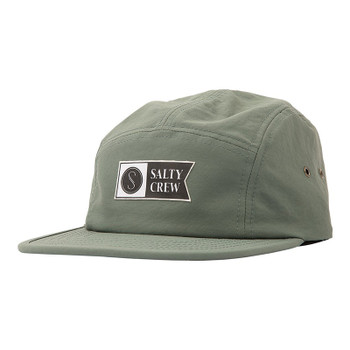 Salty Crew Traverse 5 Panel Hat - Grey