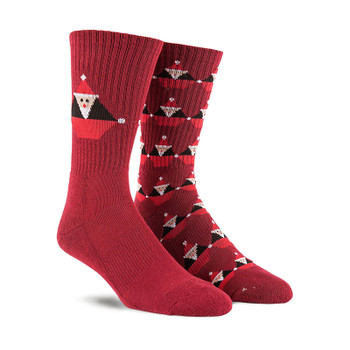 Volcom Santa Stone Sock - Deep Red