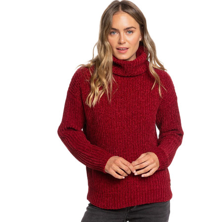 Roxy Velvet Morning Turtle Neck Sweater - Rhubarb