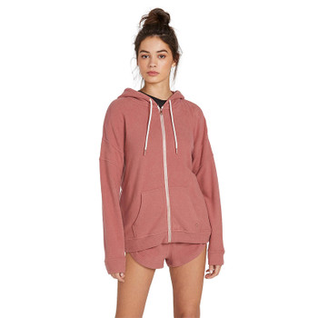 Volcom Lived In Lounge Zip Fleece - Rose Wood