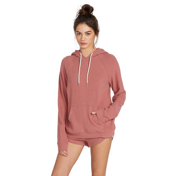 Volcom Lived In Lounge Hoodie - Rose Wood