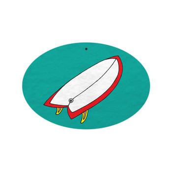 Nose Patrol Fish Surfboard Air Freshener - Pina Colada