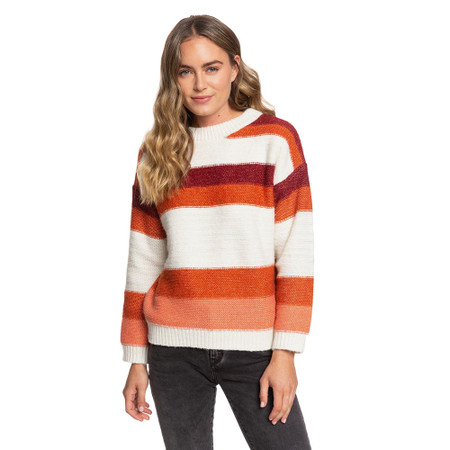 Roxy Trip For Two Stripe Sweater - Canyon Clay