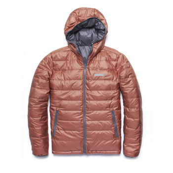Outerknown Hooded Puffer Jacket - Red Rock