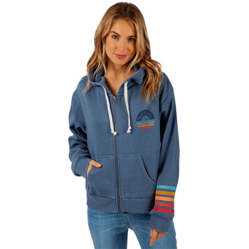 Rip Curl Surf Safari Zip Up Hoodie - Slate Blue