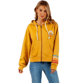 Rip Curl Surf Safari Zip Up Hoodie - Gold