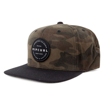 Rip Curl Mission Badge Snapback Cap - Camo