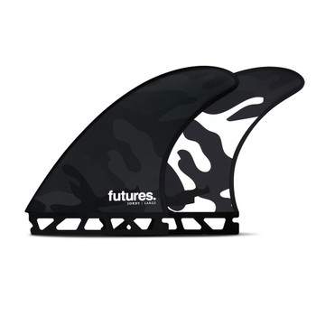 Futures Fins Jordy Large HC Thruster Fin Set - Black / White Camo