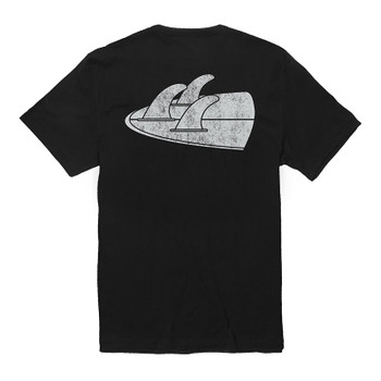 Vissla Backward Fin Beach Grit Tee - Phantom - Back