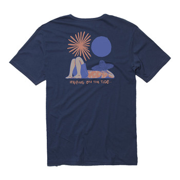 Vissla Siesta Tee - Strong Blue - Back