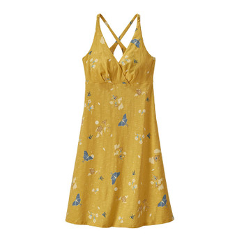 Patagonia Women's Amber Dawn Dress - Night Pollinators Spaced: Surfboard Yellow
