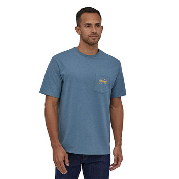 Patagonia Men's Gerry Lopez Pocket Responsibility Tee - Pigeon Blue