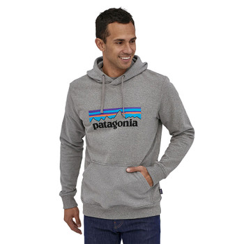 Patagonia Men's P-6 Logo Uprisal Hoody - Gravel Heather