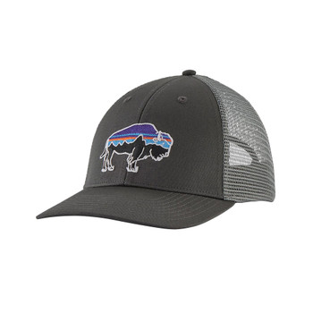 Patagonia Fitz Roy Bison LoPro Trucker Hat - Forge Grey