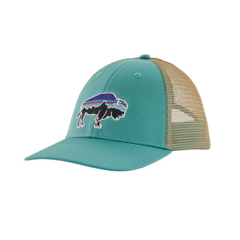 Patagonia Fitz Roy Bison LoPro Trucker Hat - Light Beryl Green