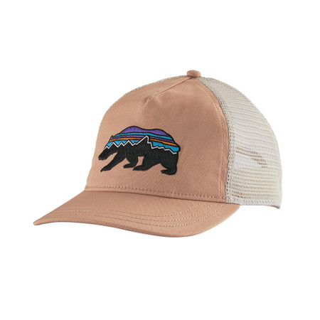 Patagonia Women's Fitz Roy Bear Layback Trucker Hat - Scotch Pink