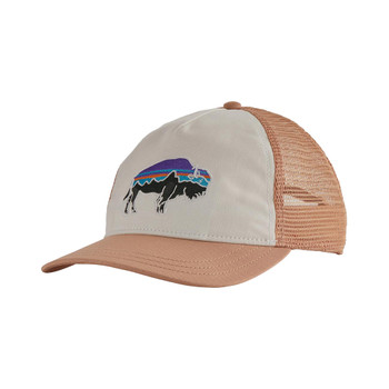 Patagonia Women's Fitz Roy Bison Layback Trucker Hat - White 2020