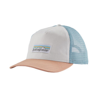 Patagonia Women's Pastel P-6 Label Layback Trucker Hat - White 2020