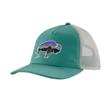 Patagonia Women's Fitz Roy Bison Layback Trucker Hat - Light Beryl Green