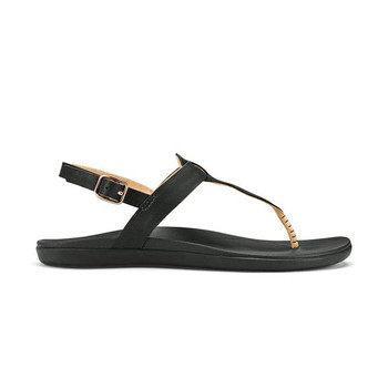 Olukai Women's 'Ekekeu Sandals - Black / Black