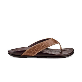 Olukai Hikianalia Sandals - Tan / Dark Java