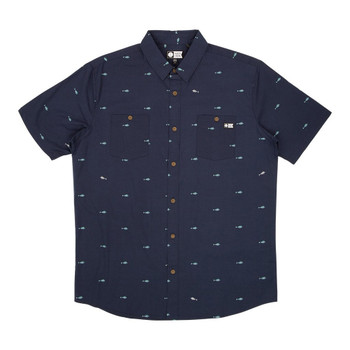 Salty Crew Provisions S/S Woven Shirt - Navy