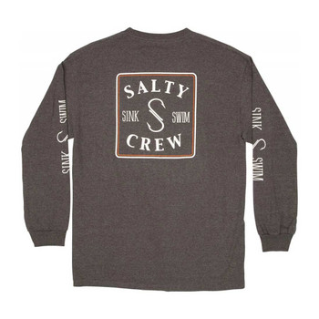 Salty Crew Squared Up L/S Tee - Charcoal