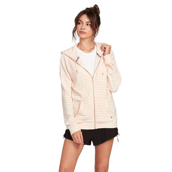 Volcom Lived In Lounge Zip Hoodie - Light Peach