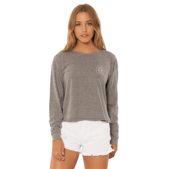 SisstrEvolution Board Stack L/S Knit Tee - Heather Grey