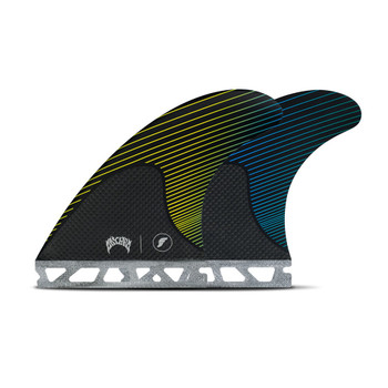 Futures Fins Mayhem Medium Thruster Fin Set - Yellow / Blue
