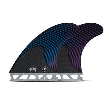 Futures Fins Mayhem Large Thruster Fin Set - Blue / Violet