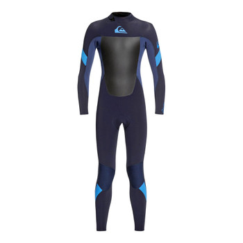 Quiksilver Youth Syncro 4/3 Back Zip Wetsuit - Dark Navy / Iodine Blue