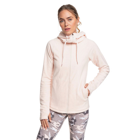 Roxy Electric Feeling Zip Up Hoodie - Peach Blush