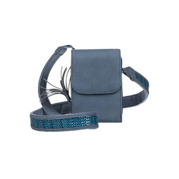 Roxy Small Town Small Shoulder Bag With Integrated Wallet - Mood Indigo