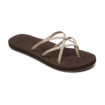Roxy Trinn Sandals - Dark Choco / Metro Champagne