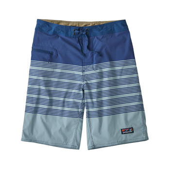"Patagonia Men's Stretch Wavefarer 21"" Boardshorts - Stripe Row Band: Big Sky Blue"