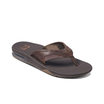 Reef Leather Fanning Sandal - Dark Brown