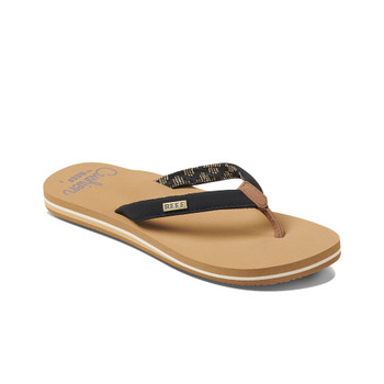 Reef Women's Cushion Sands Sandal - Black / Tan