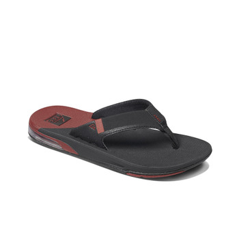 Reef Fanning Low Sandal - Black / Rust