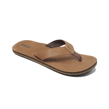 Reef Leather Smoothy Sandals - Bronze / Brown