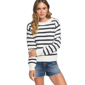 Roxy Deep Honey Sweater - Snow White Parisan Stripes