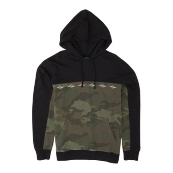 Billabong Wave Washed Blocked Pullover Hoodie - Camo