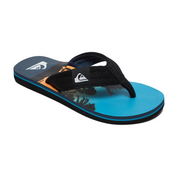 Quiksilver Molokai Layback Youth Sandals - Black / Blue / Blue