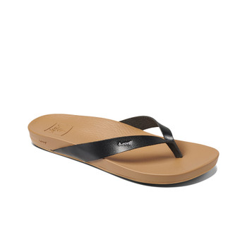 Reef Women's Cushion Bounce Court Sandal - Black / Natural