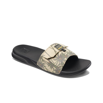 Reef Stash Slide Sandals - Tan Palm
