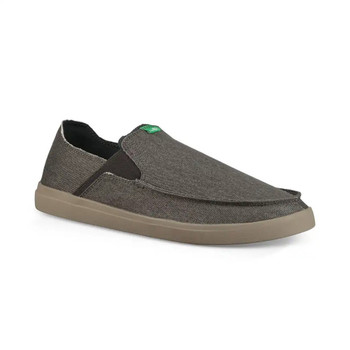 Sanuk Pick Pocket Slip On Sneaker - Dark Charcoal